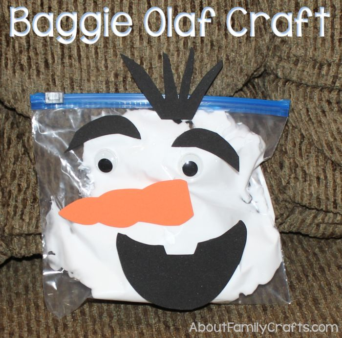 How to Make a Baggie Olaf Craft