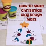 How to Make Christmas Play Dough Mats 150