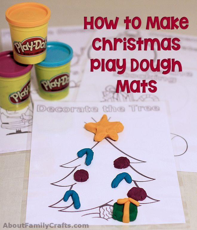 How to Make Christmas Play Dough Mats