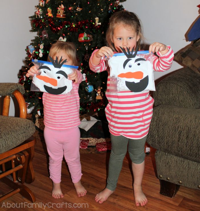 Olaf Snowman Craft and Girls