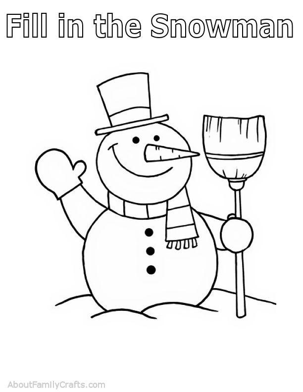 Fill in the Snowman Play Dough Mat