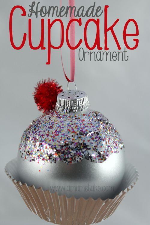 homemade cupcake ornament