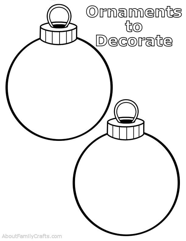 Ornaments to Decorate PLay Dough Mat