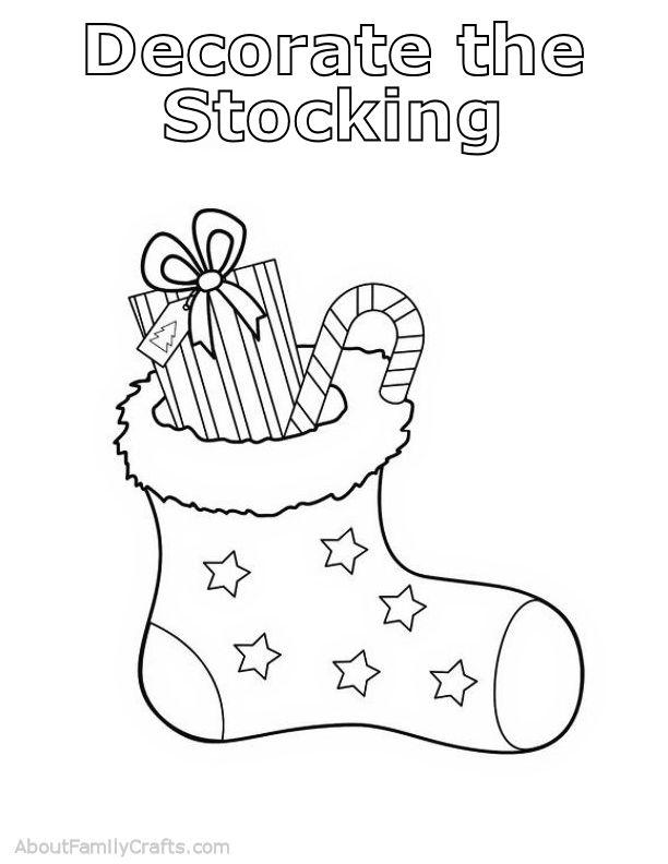 Decorate the Stocking Play Dough Mat