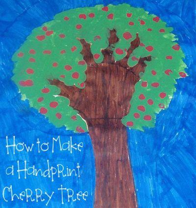 Handprint Cherry Tree from Sherri