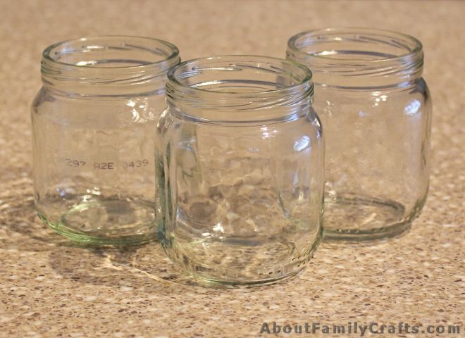 3 baby food jars for crafting
