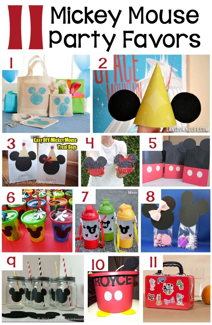 11 DIY Mickey Mouse Party Favors