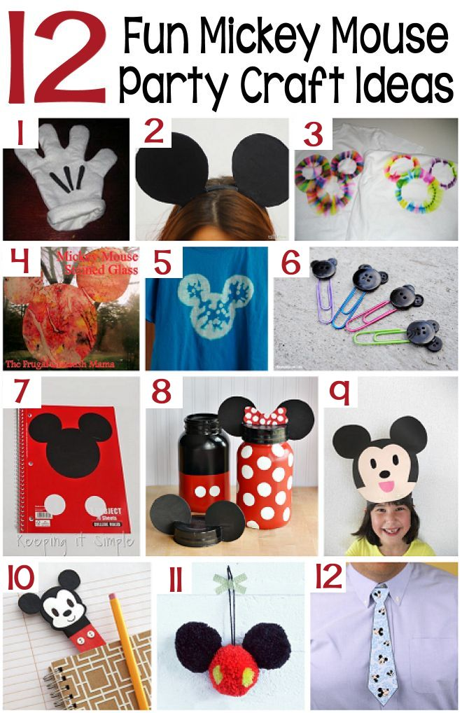 12 craft ideas for a mickey mouse party