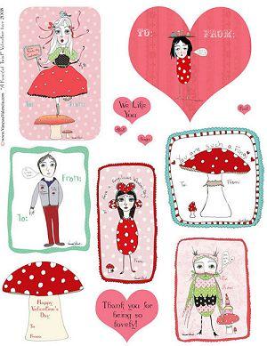 Fun Fungi Valentine's Day Cardlettes