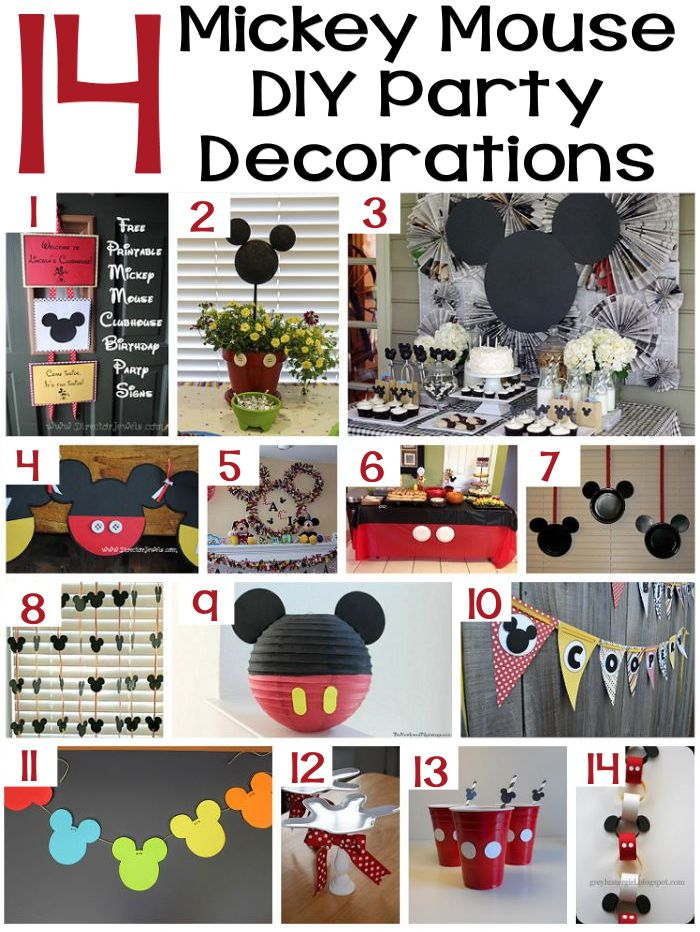 14 Mickey Mouse DIY Party Decorations