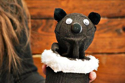 Sock Groundhog Puppet