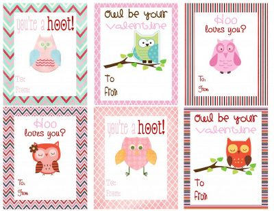 Printable Owl Valentines