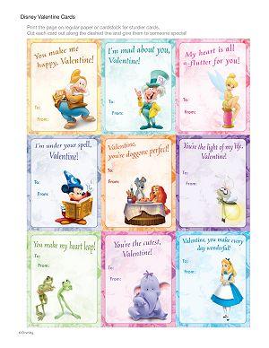 Disney Valentine Cards