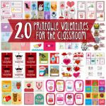 20 Printable Valentines for the Classroom 150