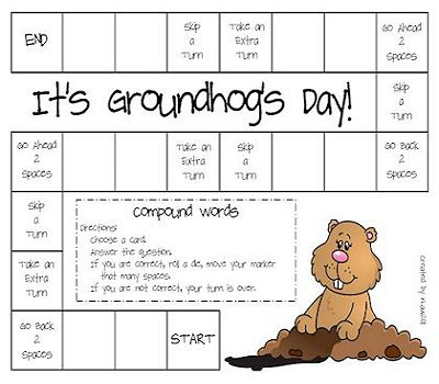 Printable Groundhogs Day Game