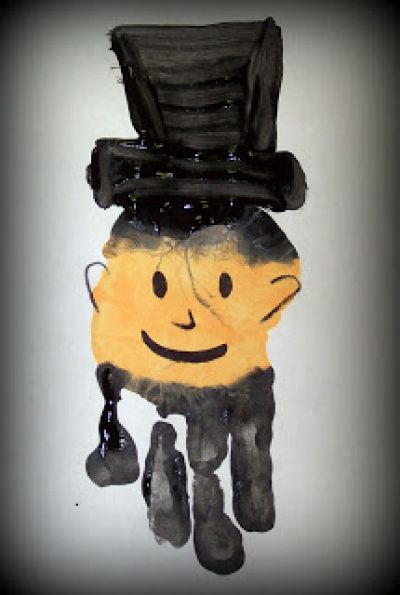 Handprint Lincoln Craft