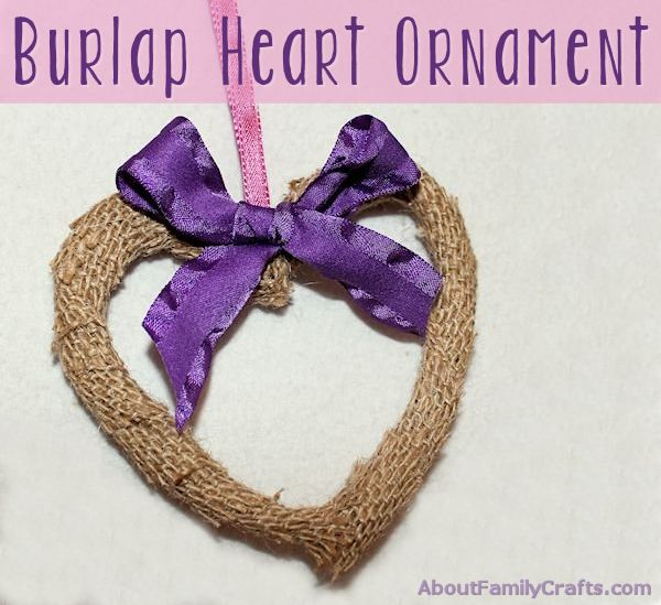 Burlap Heart Ornament