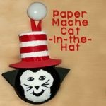 Paper Mache Cat in the Hat 150