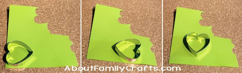 1 Make a shamrock using a Heart Cookie Cutter