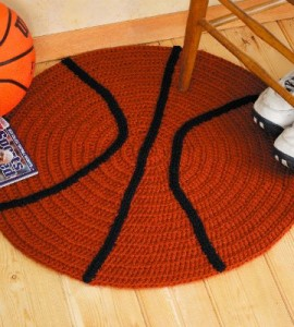 Crocheted Basketball Rug
