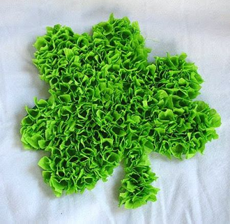 3D Tissue Paper Shamrock Craft