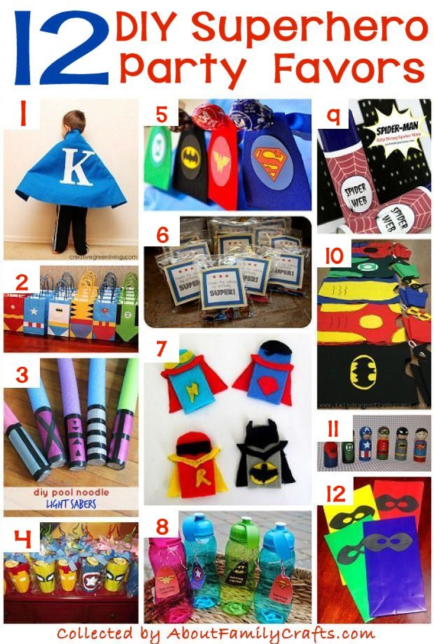 12 DIY Superhero Party Favors