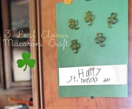 3-Leaf Clover Macaroni Craft