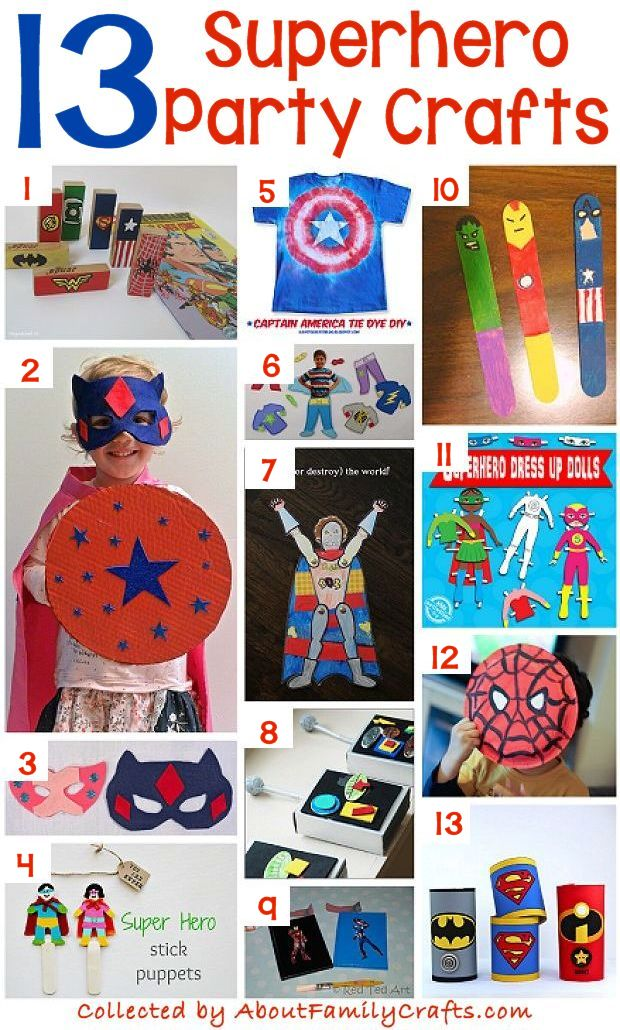 13 Superhero Themed Party Crafts