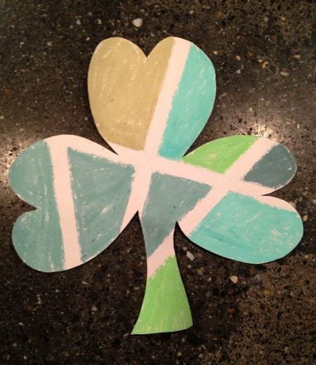 Chalk Colored Shamrock Craft