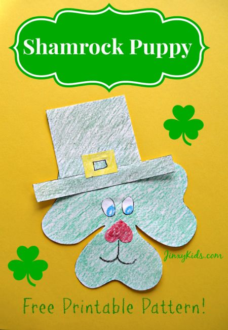 Shamrock Puppy St. Patrick's Day Craft