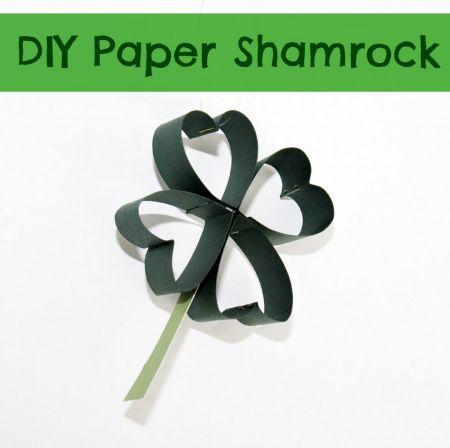 DIY PAPER SHAMROCK