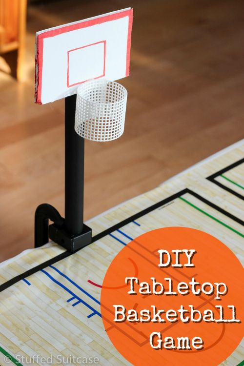 DIY Tabletop Basketball Game