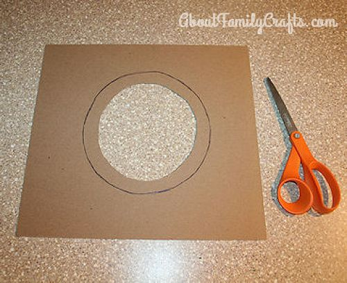 cut out the center of the cardboard