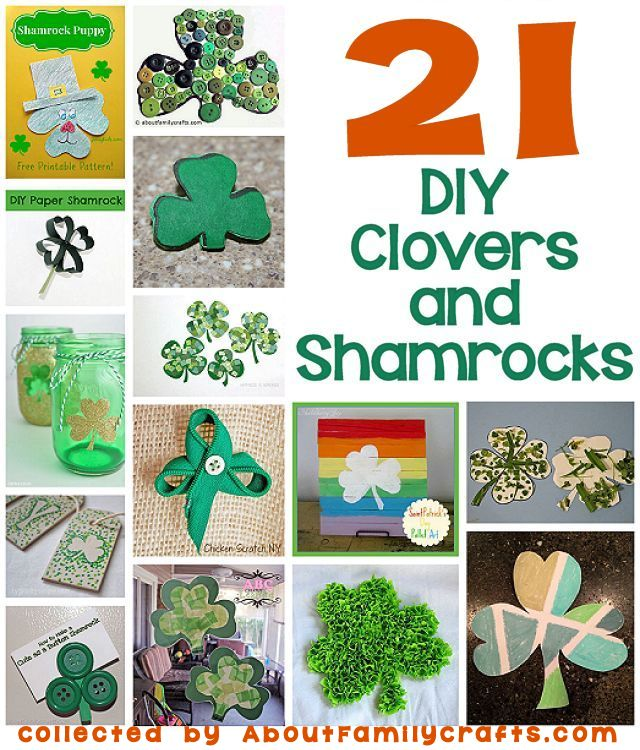 21 DIY Clovers and Shamrocks Crafts
