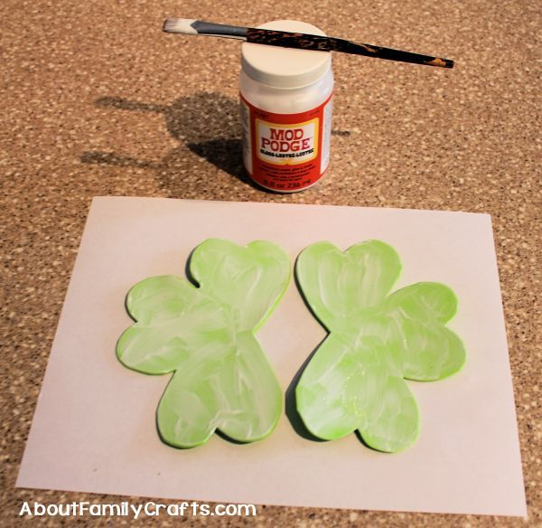 Mod podge shamrocks