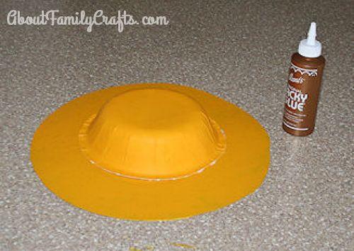 4 glue bowl to hat brim