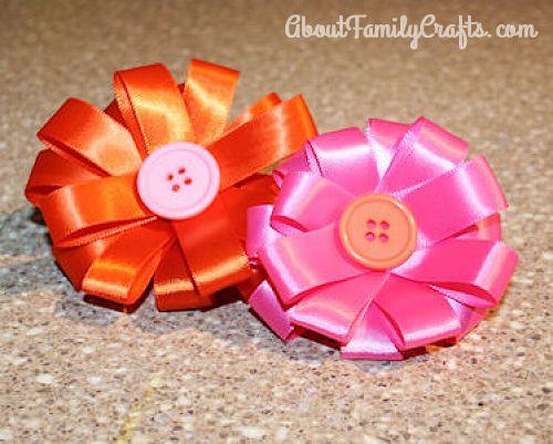 How to make ribbon flowers for Easter bonnet