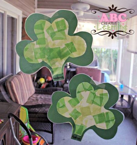 Shamrock Suncatchers Craft