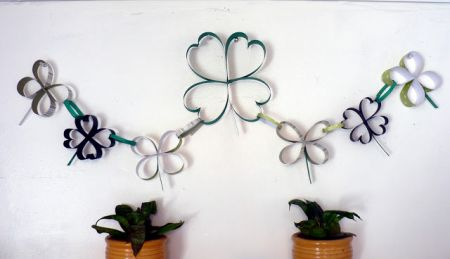 Paper Shamrock Chain Craft