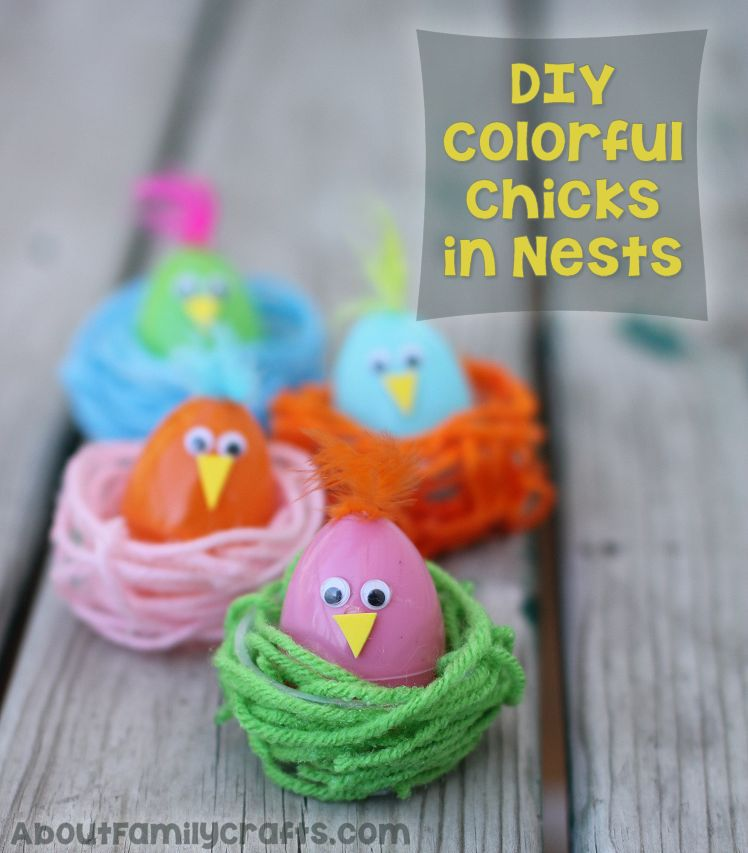 DIY Easter Chick in a Nest Craft