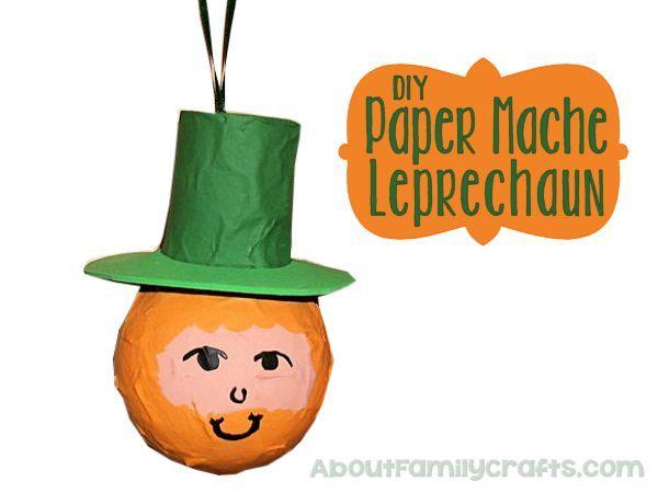 DIY Paper Mache Leprechaun