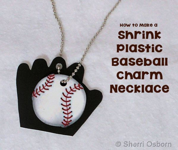 DIY Baseball Charm Necklace