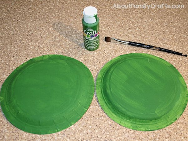Paint the Paper plate frogs