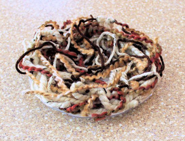 DIY bird nest finished yarn