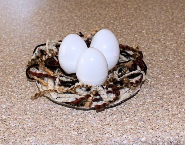How to finish the yarn bird nest