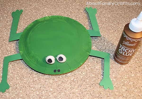 How To Make A Frog From Paper Plates About Family Crafts