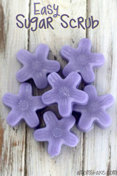 Easy Sugar Scrub Flowers