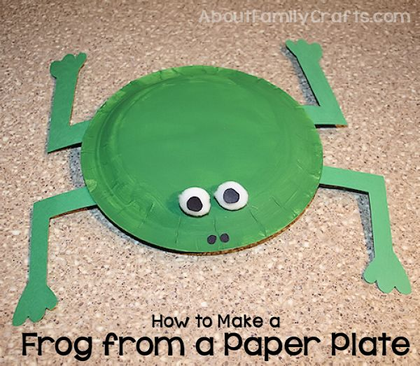 How to make a frog from paper plates about family crafts for How to make paper crafts