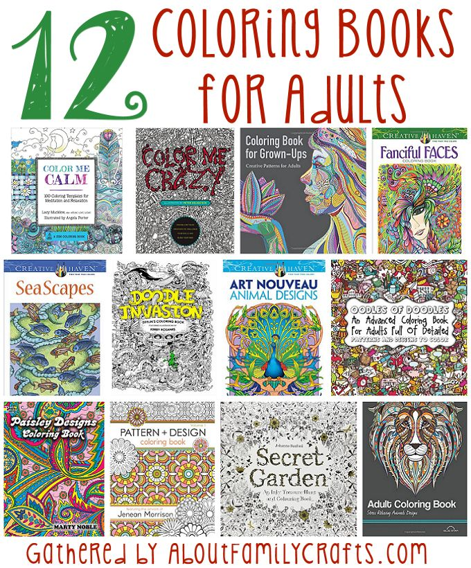 12 Coloring Books For Adults