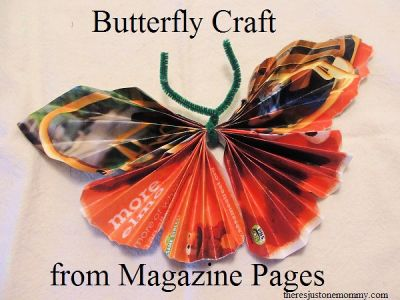 Butterflies Made from Magazines